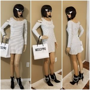 """""""TORN"""" - Stripes Mini-Dress"""